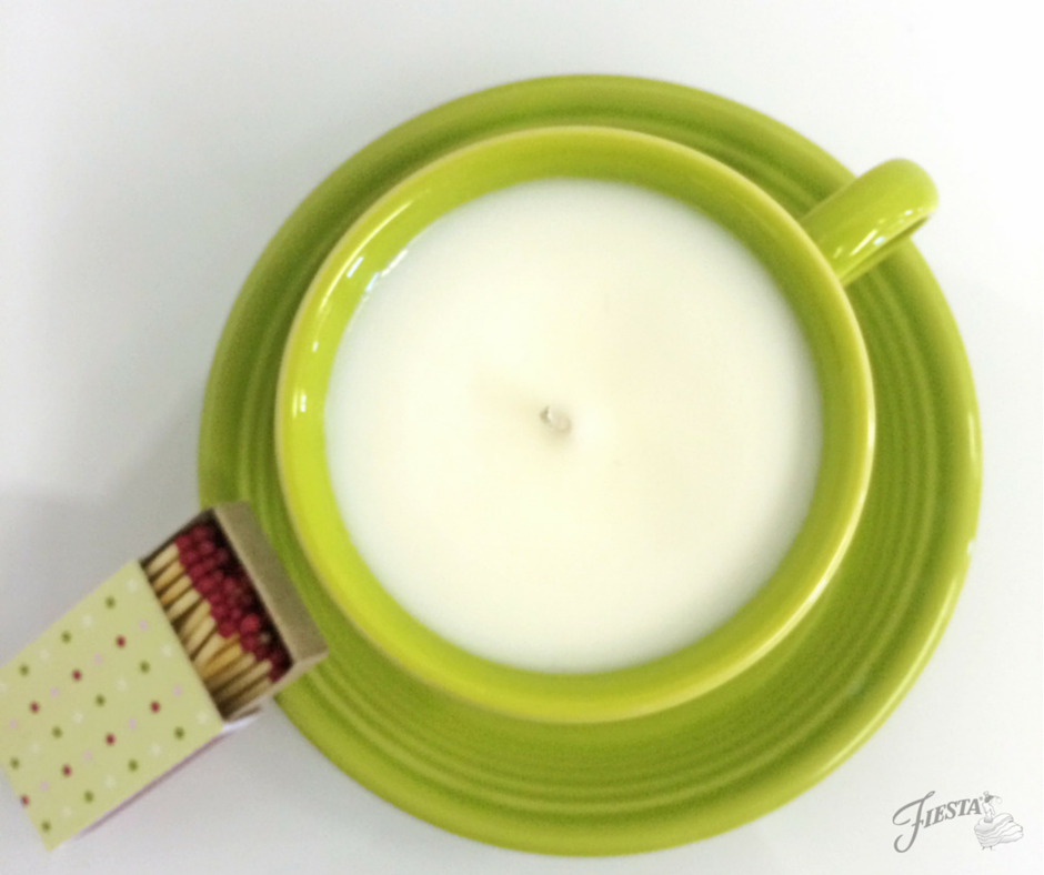 Tea Cup Candle Lemongrass