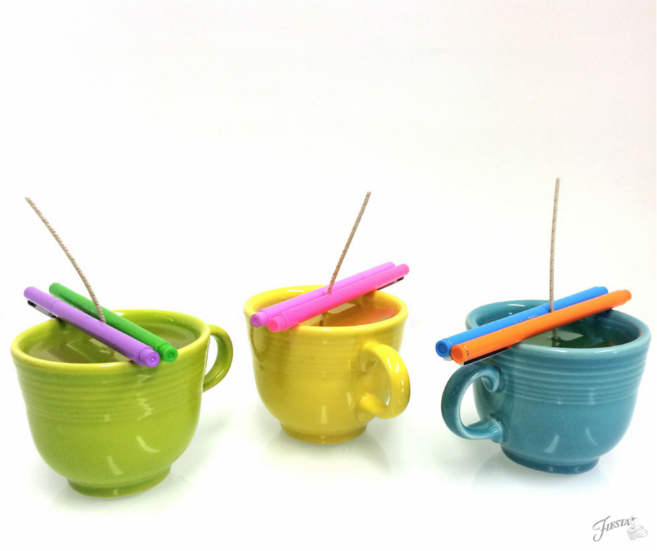 Tea Cup Candles Setting