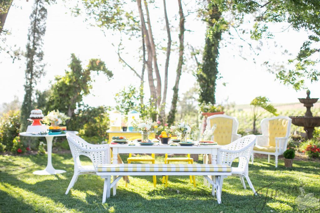 Who's ready for a summer wedding? Crisp and clean, this Fiesta Dinnerware color palette of Sage, Slate, Sunflower, Poppy, and Turquoise is beautifully set off against a vineyard backdrop.