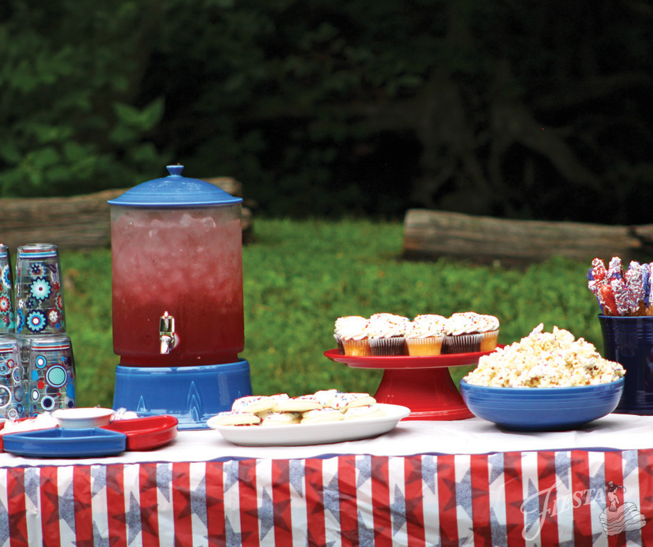 Fiesta July 4th Dessert Table