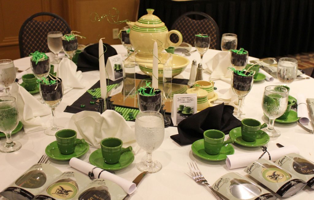 Table setting at Saturday's banquet. Photo courtesy of David Schaefer.