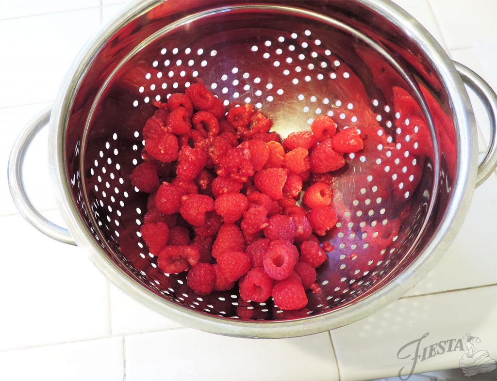 Fresh raspberries are the headliner in our Sangria Sorbet recipe.