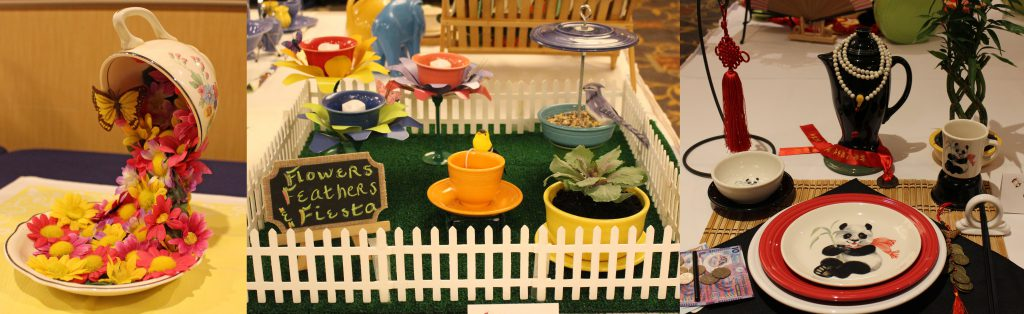 Examples of the floral, microzibit, and tablescape exhibits. Photos courtesy of David Schaefer.