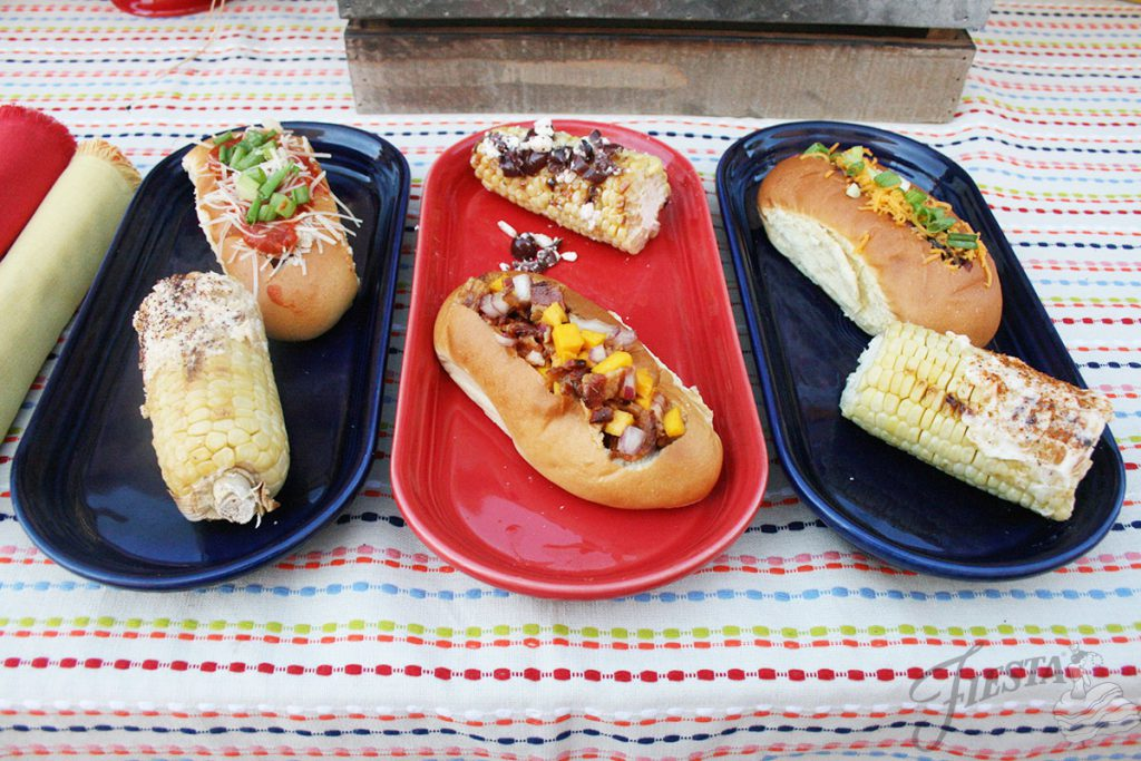 3-Hot-Dogs Recipes, FIesta Dinnerware