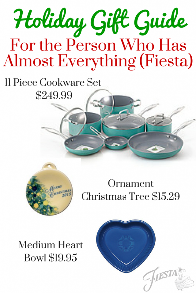 Fiesta Holiday Gift Guide for everyone on your list! From college kids to home chefs to pet lovers, there's something for everyone! www.alwaysfestive.com