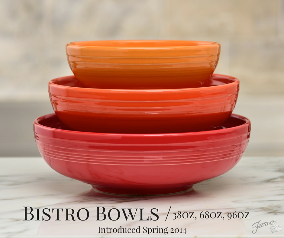 Bistro Bowls & Hello Bistro! Introducing the Fiesta® Dinnerware 3pc Bistro Set ...
