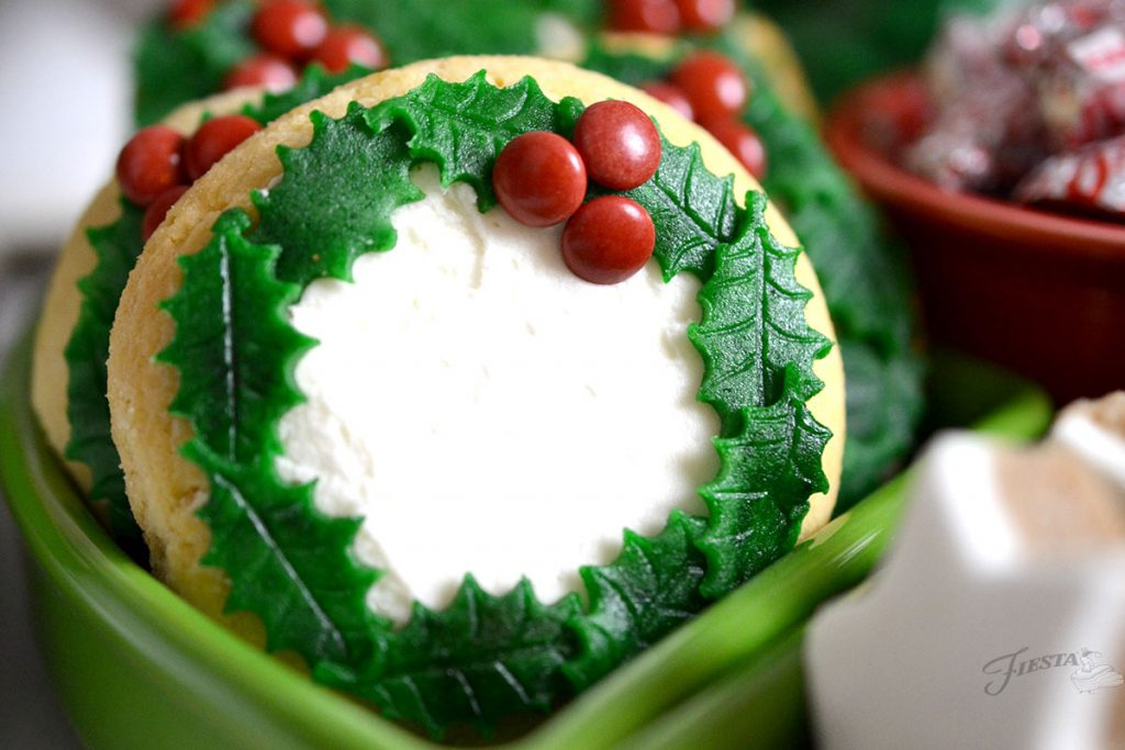 Cookie-Wreath with Marzapan