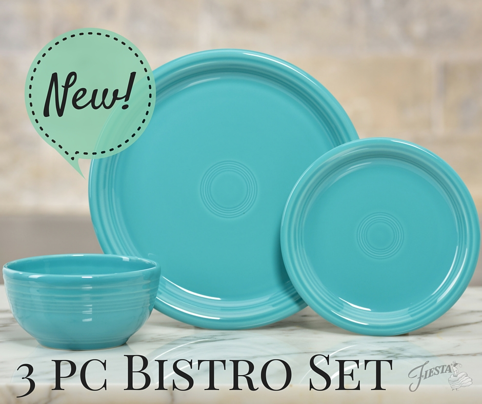 Hello, Bistro! Introducing the Fiestau00ae Dinnerware 3pc Bistro Set : Fiesta Dinnerware, Always Festive
