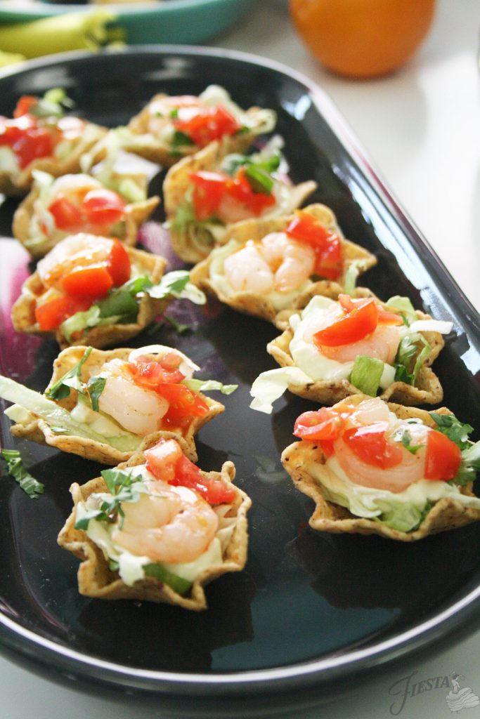 Shrimp-Taco-Cups-on-Bread-Tray