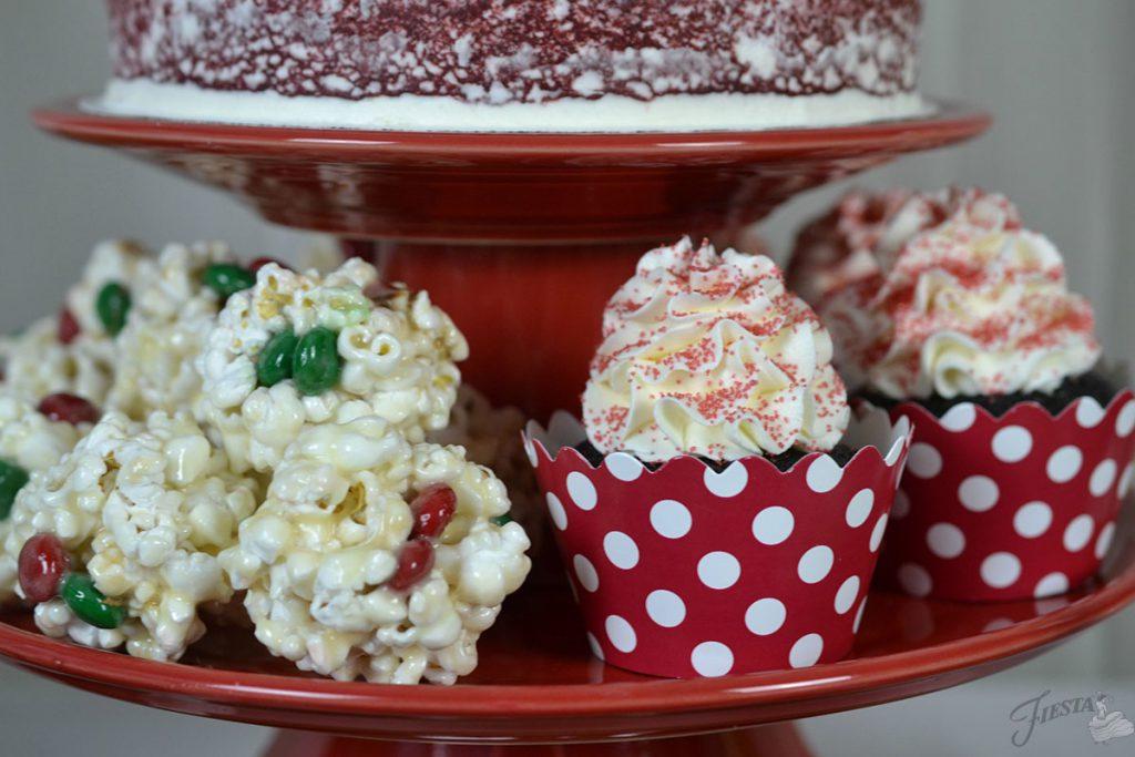 Popcorn balls and cupcakes