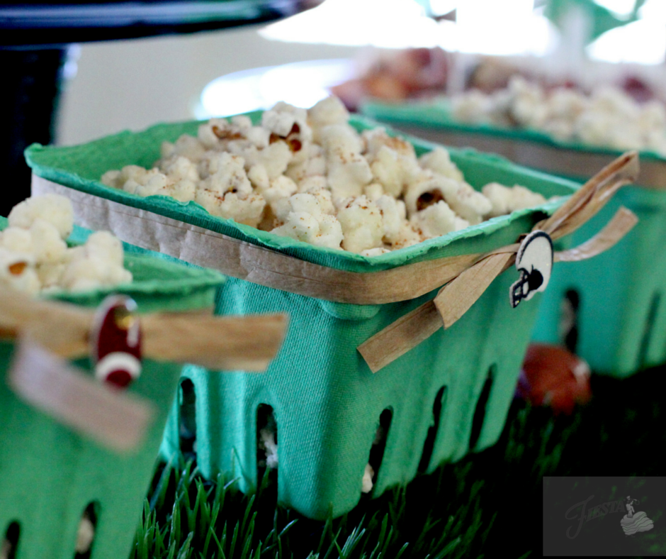 Get game day ready with delicious appetizers and simple festive decor ideas from Fiesta Dinnerware. Spicy Caramel Popcorn Recipe on the blog at www.alwaysfestive.com
