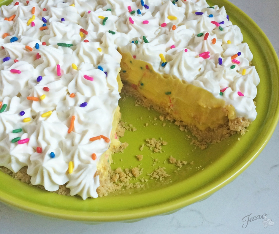 Confetti Cream Pie BIG Sliced