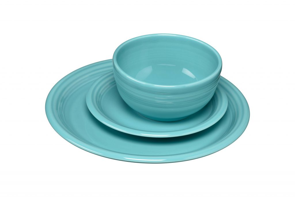 Fiesta Dinnerware Turquoise 3pc Bistro Set - one of the perfect pieces for someone's first house or apartment. For more starter dinnerware ideas, visit the Fiesta blog at www.alwaysfestive.com.