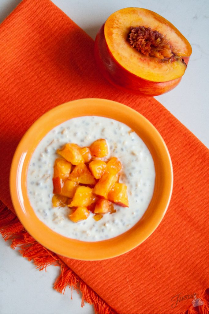 fiesta overnight oats peaches 2