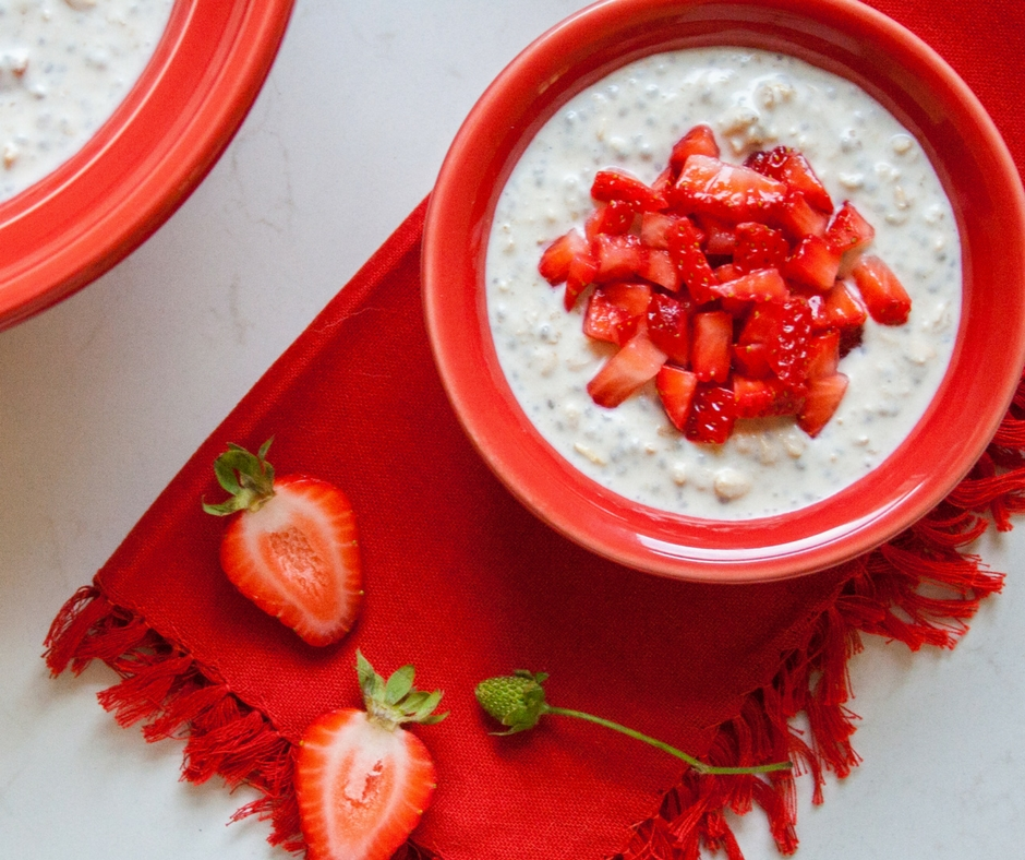 fiesta overnight oats strawberry 2