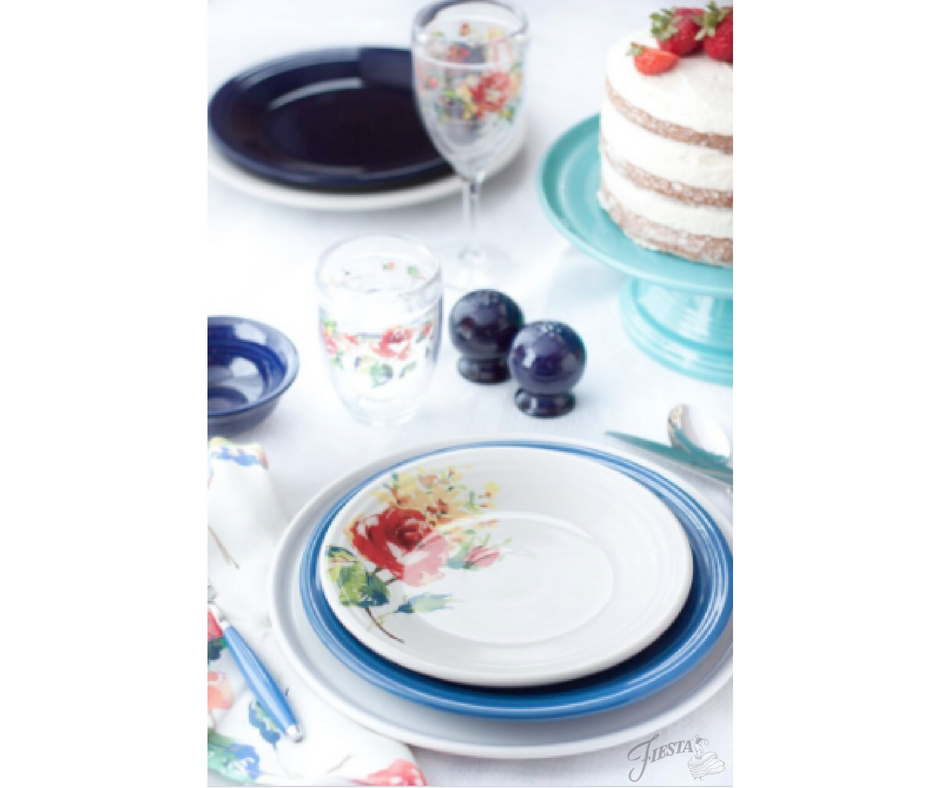 Fiesta Dinnerware new Floral Bouquet design, available at retailers and www.fiestafactorydirect.com in March 2017.