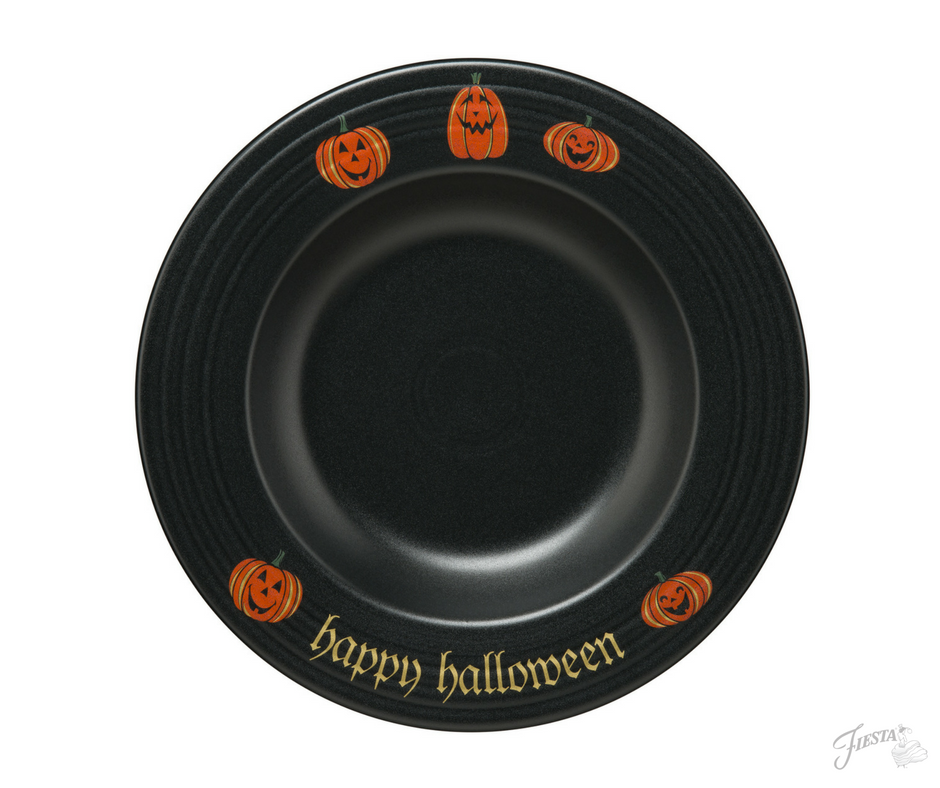 Fiesta Dinnerware introduces new Trio of Happy Pumpkins design to Halloween collection. Available June 2017. | www.alwaysfestive.com