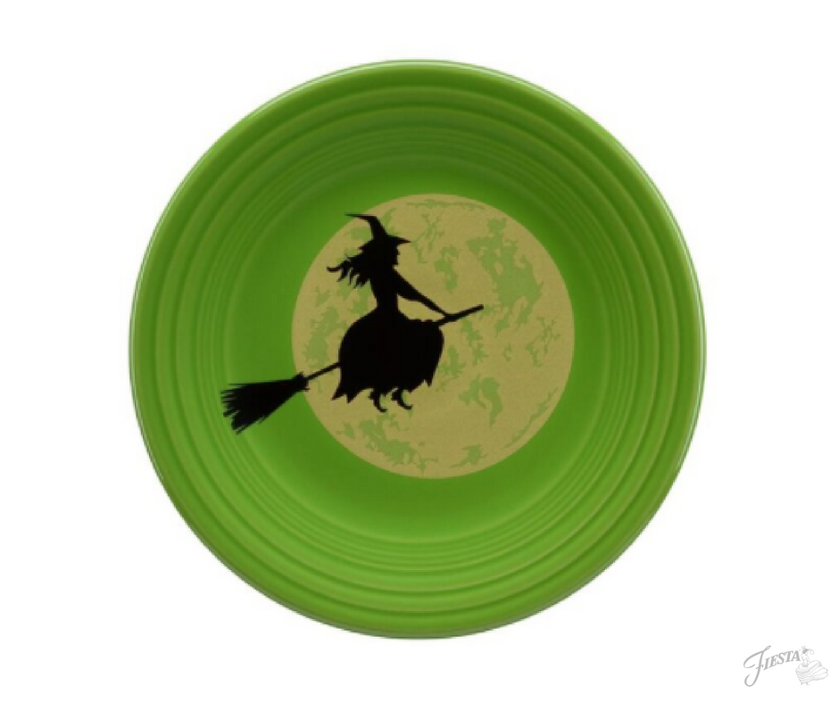 Fiesta Dinnerware introduces new Harvest Moon Witch Design to Halloween collection. Available June 2017. | www.alwaysfestive.com