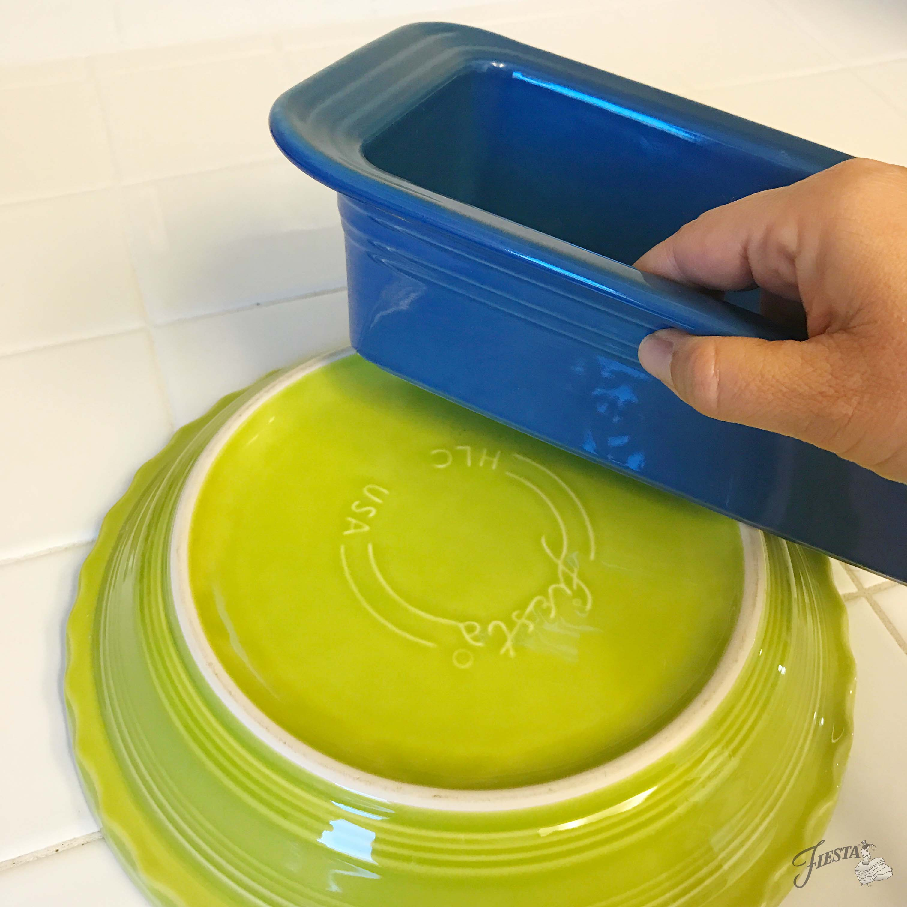 How to get rid of rough patches on the bottom of Fiesta Dinnerware bakeware