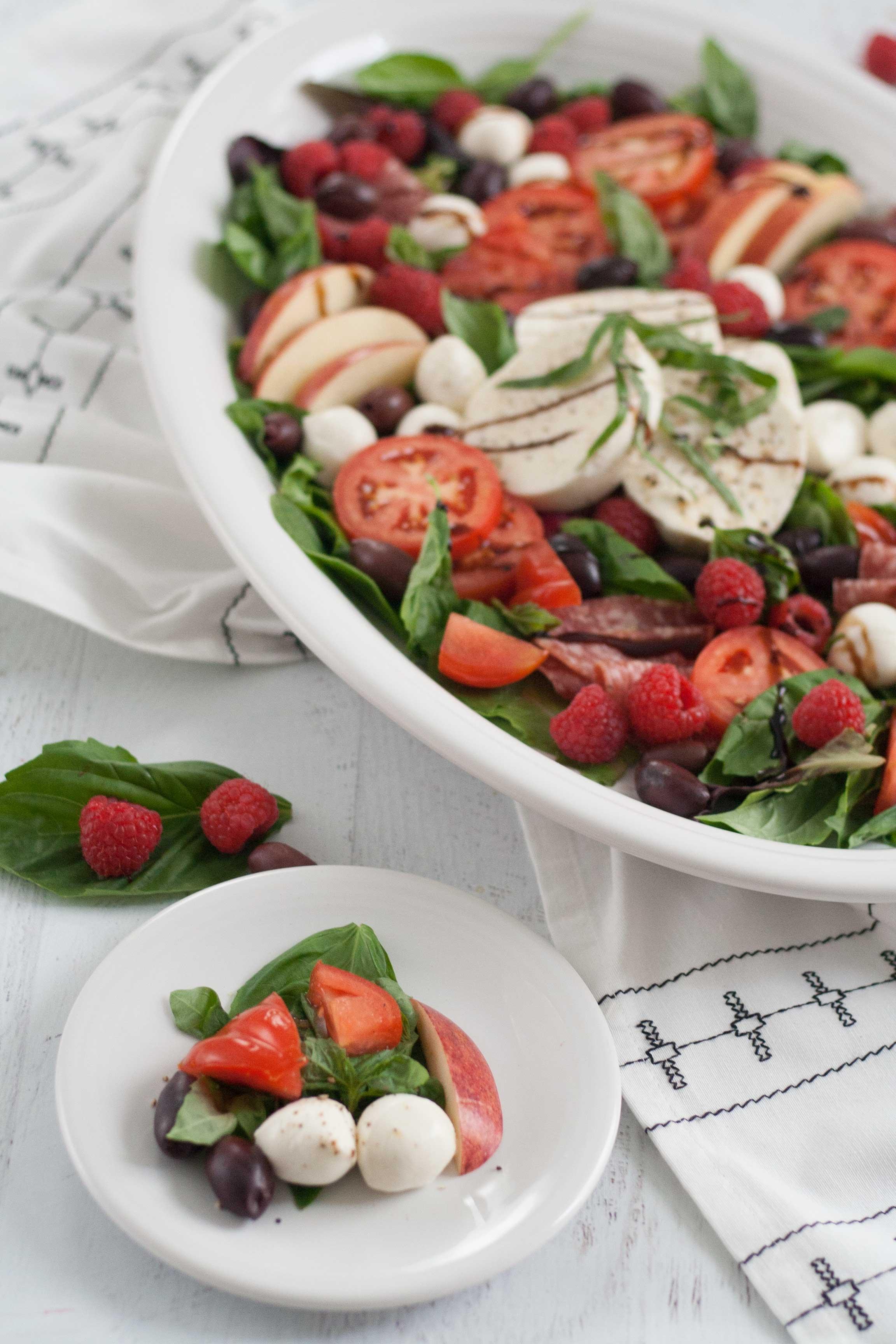fiesta xl oval turkey platter white caprese salad recipe