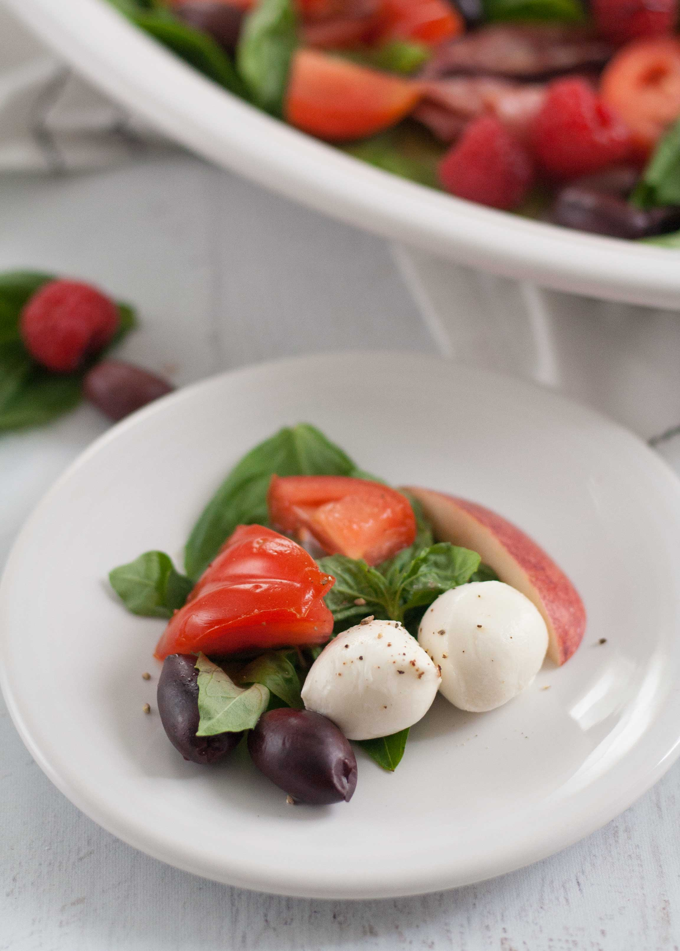 fiesta xl oval turkey platter white caprese salad recipe