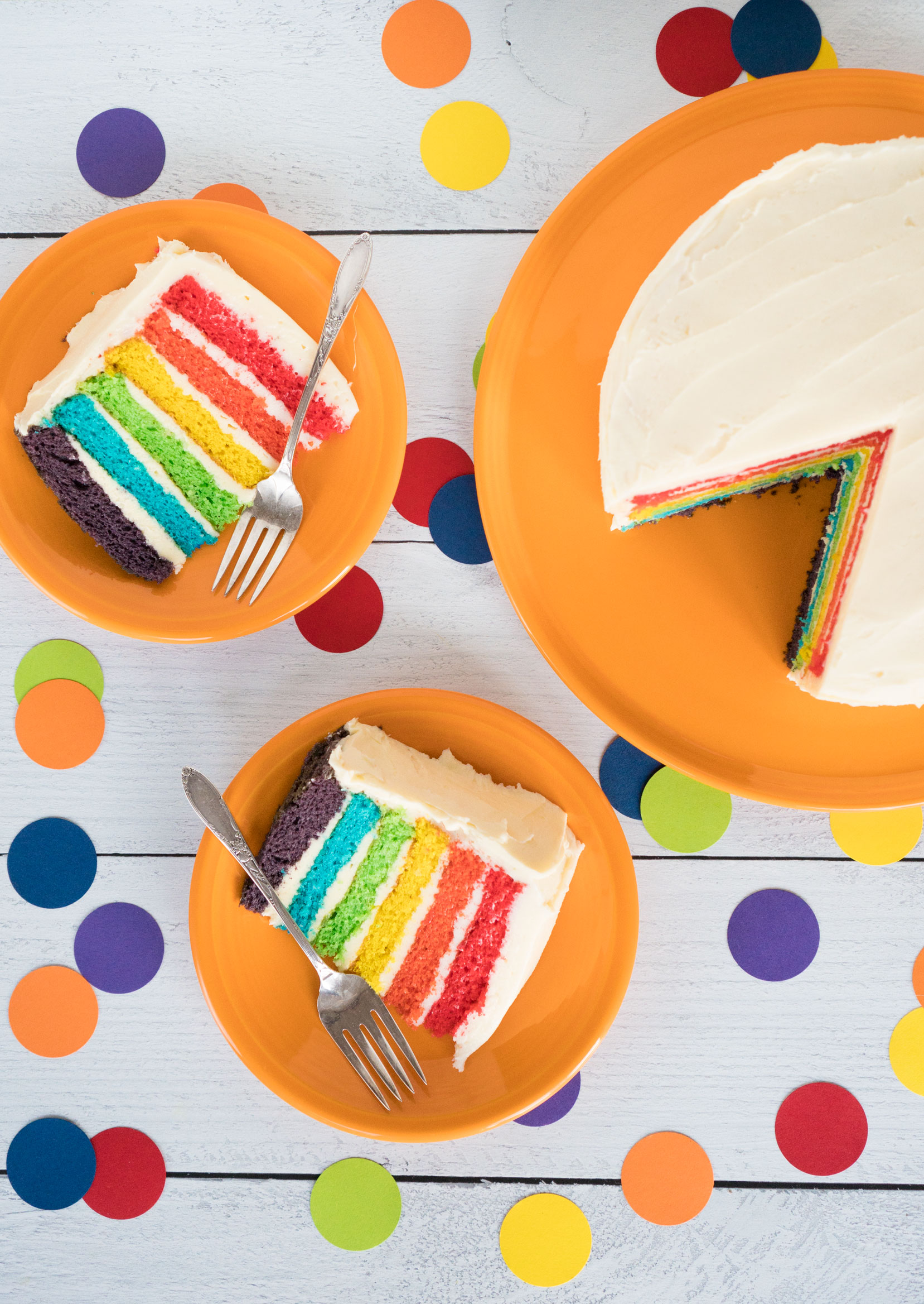 fiesta dinnerware butterscotch plate rainbow layer cake