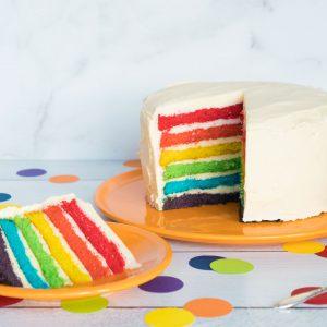 fiesta dinnerware butterscotch plate rainbow layer cake